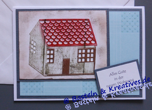 Karte Einzug Umzug Haus Blau Gabis Karten
